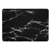 Marmer Hardcover Hoes Macbook Pro 13-inch (Wit / Zwart)