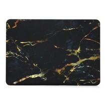 Marmer Hardcover Hoes Macbook Pro 13-inch (Zwart / Geel)