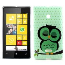 Slapende uil TPU hoesje Microsoft Lumia 435