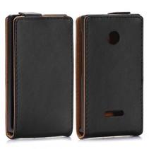 Zwart Flip Case hoesje Microsoft Lumia 532