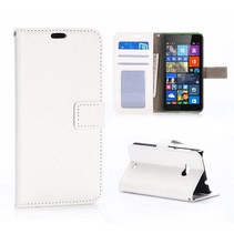 Witte Bookcase hoes Microsoft Lumia 535