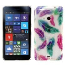 Kleurrijke veertjes TPU hoesje Microsoft Lumia 535