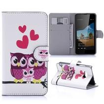 Uil Familie Bookcase Hoesje Microsoft Lumia 550