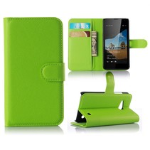 Groen Litchi Bookcase Hoesje Microsoft Lumia 550