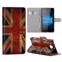 Brits Vlag Bookcase Hoesje Microsoft Lumia 950 XL