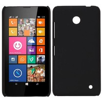 Zwart hardcase hoesje Nokia Lumia 630 / 635