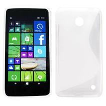 Transparant S-design TPU hoesje Nokia Lumia 630 / 635