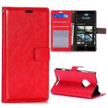 Rode Bookcase hoes Nokia Lumia 830