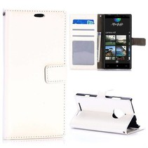 Witte Bookcase hoes Nokia Lumia 830