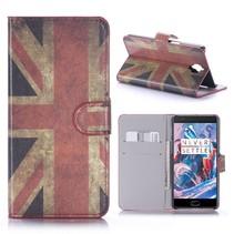 Britse Vlag Bookcase Hoesje OnePlus 3