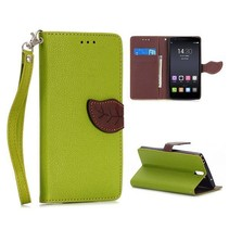 Groene leaf Bookcase hoes OnePlus One