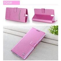 Silk roze Bookcase hoesje OnePlus One
