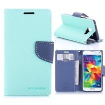 Fancy Diary Cyaan Bookcase Hoesje Samsung Galaxy A3 2016