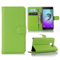 Groen Litchi Bookcase Hoesje Samsung Galaxy A3 2016