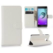 Wit Litchi Bookcase Hoesje Samsung Galaxy A3 2016