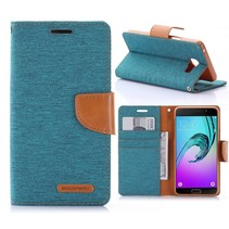 Canvas Series Groen Bookcase Hoesje Samsung Galaxy A5 2016