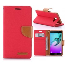 Canvas Series Rood Bookcase Hoesje Samsung Galaxy A5 2016