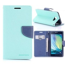 Diary Series Cyaan Bookcase Hoesje Samsung Galaxy A5 2016
