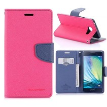 Diary Series Donkerroze Bookcase Hoesje Samsung Galaxy A5 2016