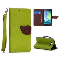 Groen leaf Bookcase hoesje Samsung Galaxy A5