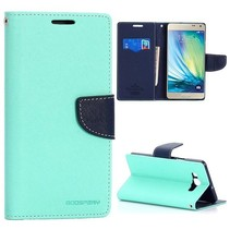 Fancy diary mintgroen / blauwe Bookcase hoes Samsung Galaxy A7