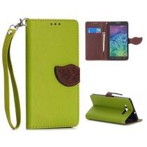 Groen leaf Bookcase hoesje Samsung Galaxy A7