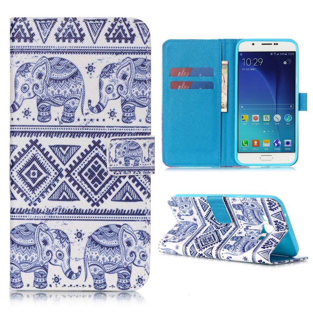 Olifantjes Bookcase hoes Samsung Galaxy A8