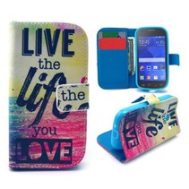 Life quote Bookcase hoes Samsung Galaxy Ace Style