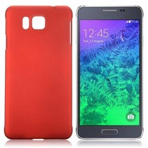 Rood hardcase hoesje Samsung Galaxy Alpha