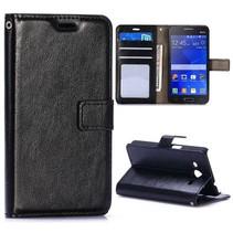 Zwarte moderne Bookcase hoes Samsung Galaxy Core 2