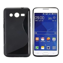 Zwart S-design TPU hoesje Samsung Galaxy Core 2