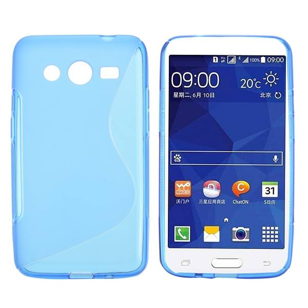 Blauw S-design TPU hoesje Samsung Galaxy Core 2