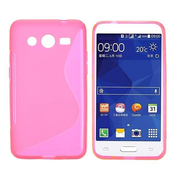 Roze S-design TPU hoesje Samsung Galaxy Core 2