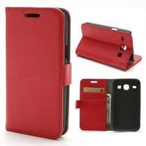 Bookcase hoesje rood Samsung Galaxy Core