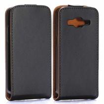 Zwarte Flip Case hoes Samsung Galaxy Core Prime