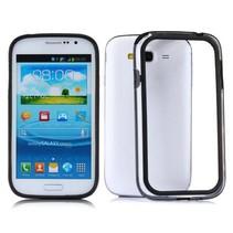 Hybrid bumper zwart / transparant Samsung Galaxy Grand