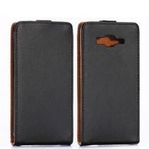 Zwarte Flip Case hoes Samsung Galaxy Grand Prime