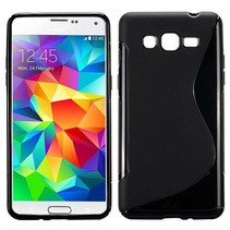 Zwart S-design TPU hoesje Samsung Galaxy Grand Prime
