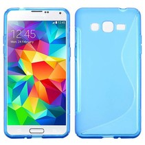 Blauw S-design TPU hoesje Samsung Galaxy Grand Prime