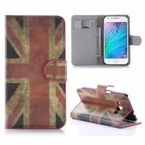Britse Vlag Bookcase Hoesje Samsung Galaxy J1 2016