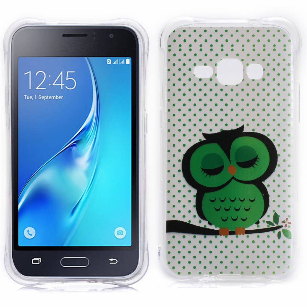 Slapende Uil TPU Hoesje Samsung Galaxy J1 2016