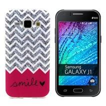 Smile glitters TPU hoesje Samsung Galaxy J1
