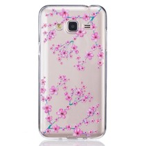 Roze Bloesem TPU Hoesje Samsung Galaxy J3 / J3 2016