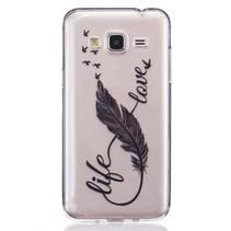 Life Love TPU Hoesje Samsung Galaxy J3 / J3 2016