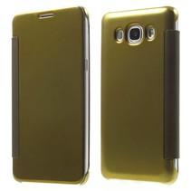 Goudkleurig Mirror Bookcase Hoesje Samsung Galaxy J5 2016