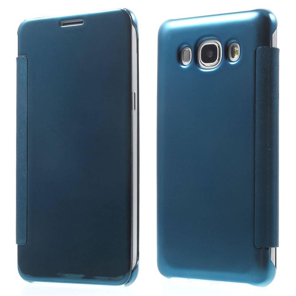 Blauw Mirror Bookcase Hoesje Samsung Galaxy J5 2016