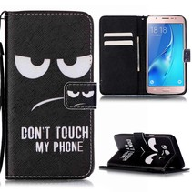 Don't Touch My Phone Bookcase Hoesje Samsung Galaxy J5 2016