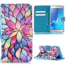 Kleurrijke Bloem Bookcase Hoesje Samsung Galaxy J5 2016