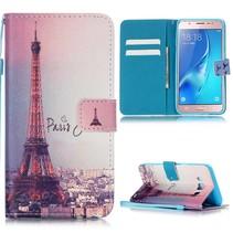Eiffeltoren Bookcase Hoesje Samsung Galaxy J5 2016