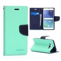 Diary mintgroene Booktype  hoes Samsung Galaxy J5